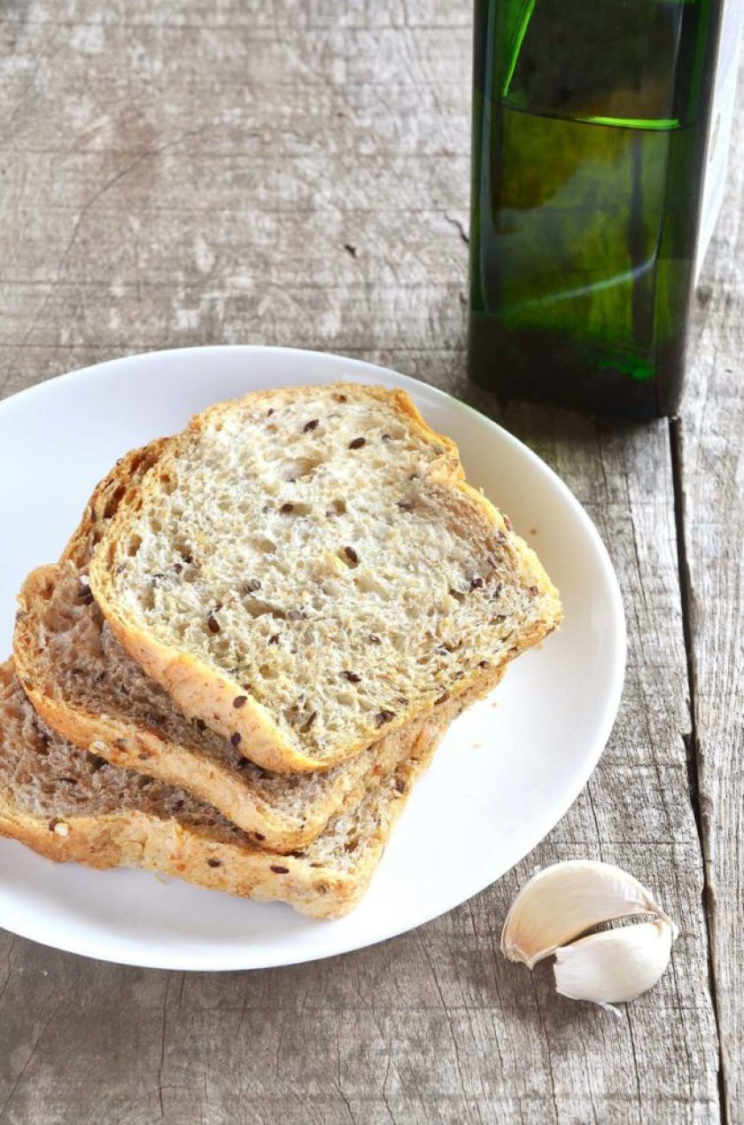 Ingredientes do pão de alho