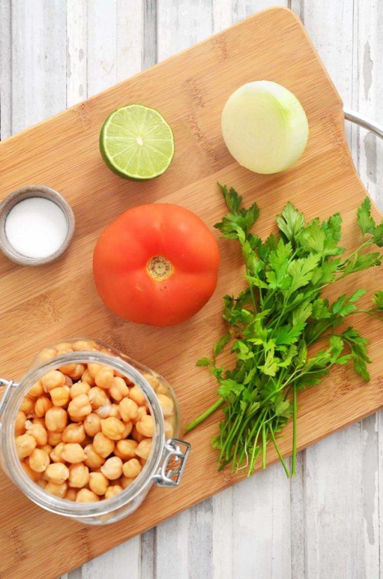 Ingredientes da salada