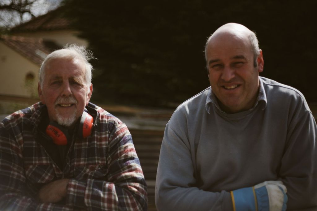 Phillip Read and Nicholas Shore of Sotterly Sawmill