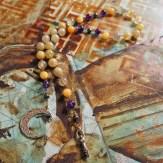 Moon Over Moonstone goddess rosary - $40