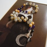 Moon Over Moonstone goddess rosary - $40