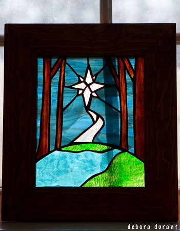 stained glass from sorrow