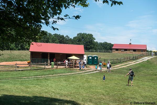 visitors at the goat yard at psas farm tour 2012