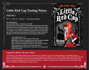 Grimm Bros - Red Cap Sales Sheet