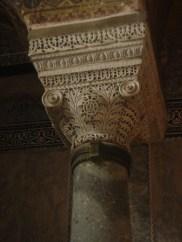 A pillar in the Hagia Sophia