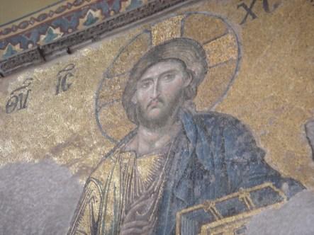 Mosaic in the Hagia Sophia