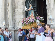 Statue of Our Lady with nautical theme