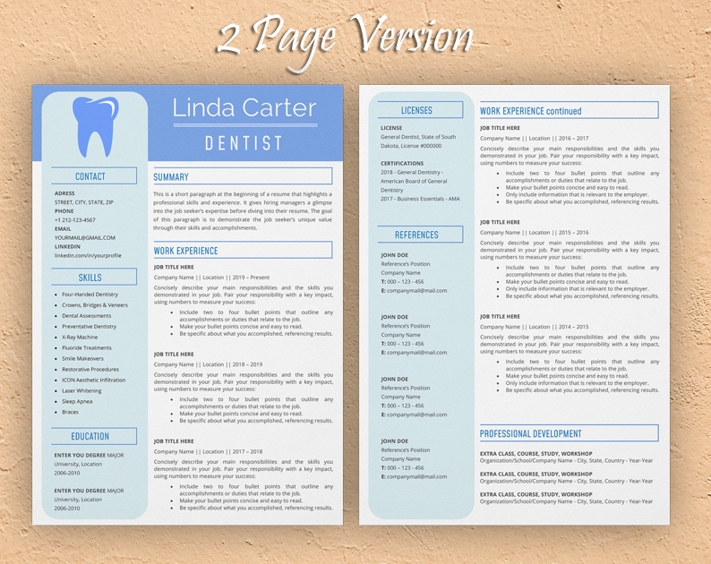 Employers look for experience in providing assistance with the treatment of patients, readying consultation rooms, and preparing patients. Dental Assistant Resume Template Sample In Word Format Template Resume Com