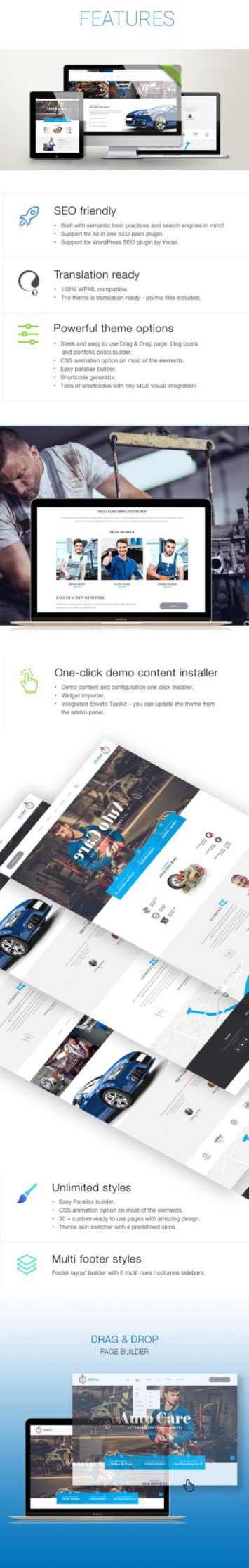 AutoCare – Auto Service WordPress Theme is an excellent fit for people who are running repair workshops, car service.