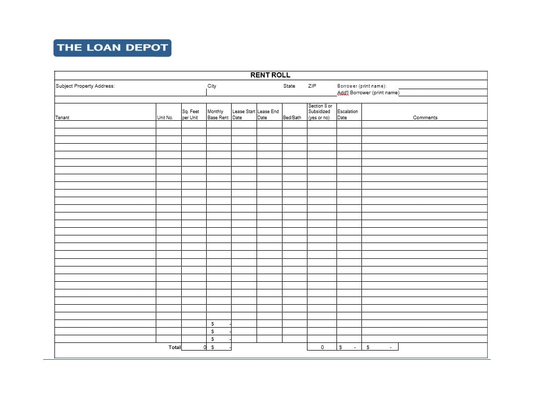 47 Rent Roll Templates Amp Forms