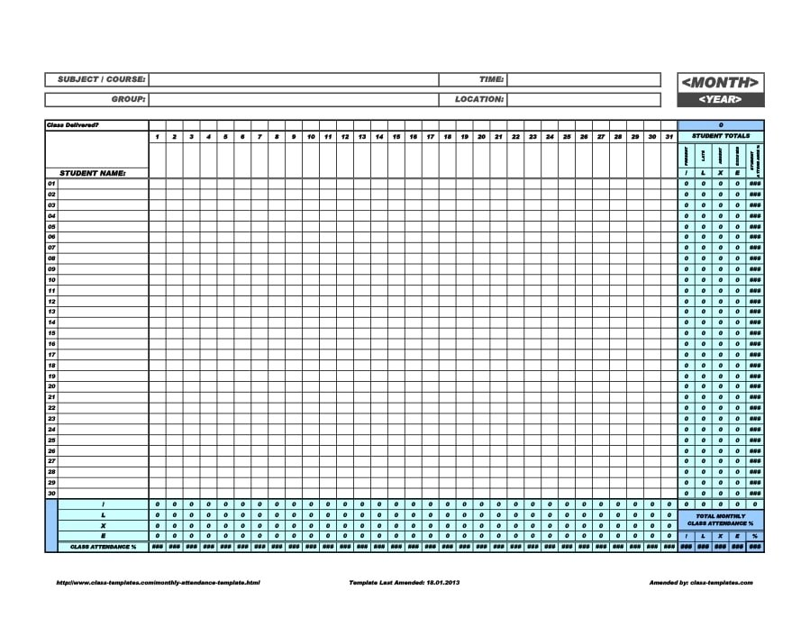 Choose and download a perfect vacation tracking template from tracking spreadsheets to keep track your personal or employee's vacations and holidays. 40 Free Attendance Tracker Templates Employee Student Meeting