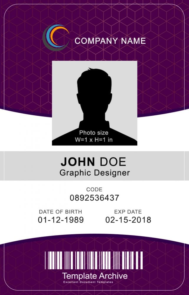 Create employee id cards with alphacard. 16 Id Badge Id Card Templates Free Templatearchive