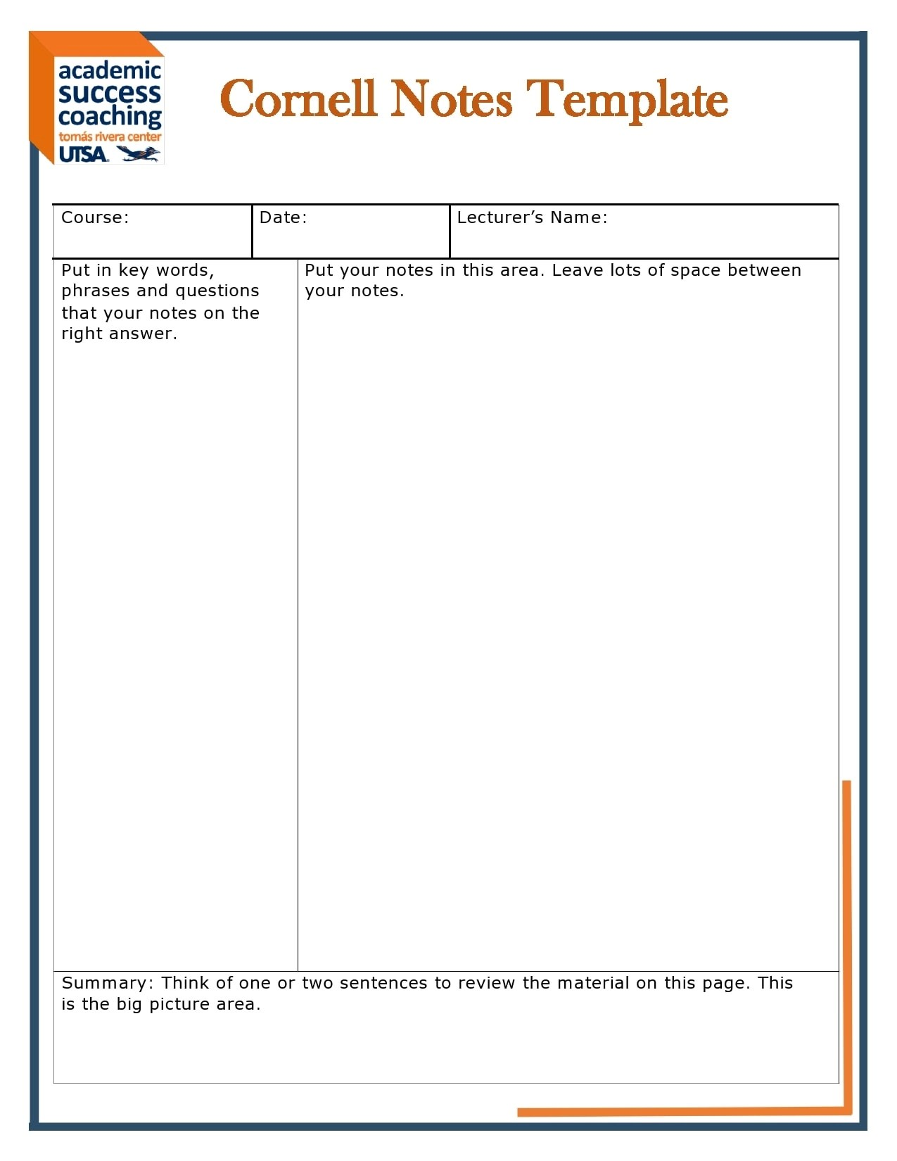 Take notes.use this accessible daily notes template to take notes and to make a digital notebook. 28 Printable Cornell Notes Templates Free Templatearchive