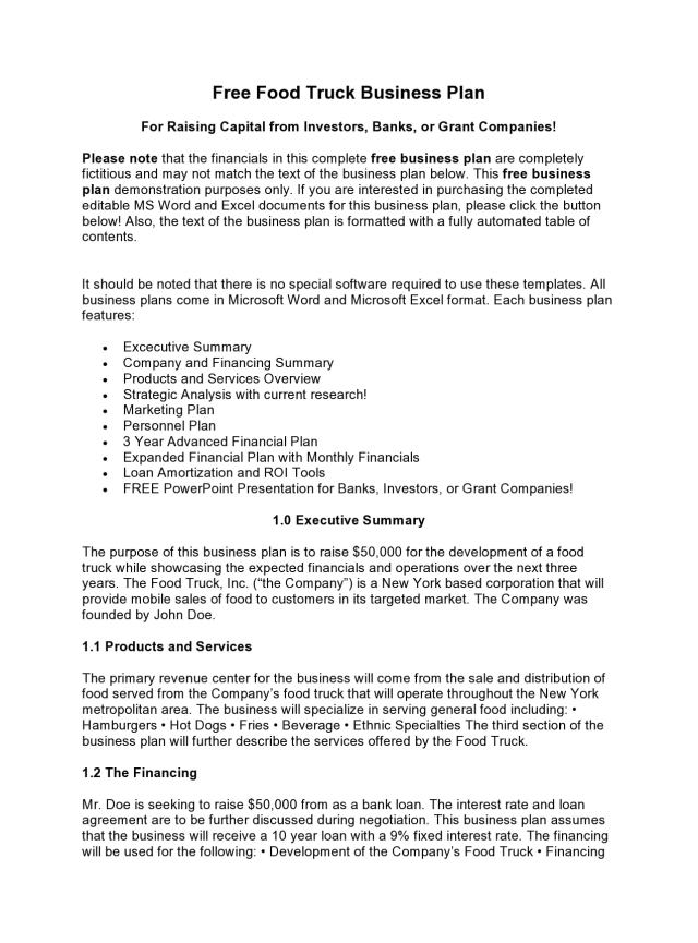 26 Proven Food Truck Business Plans (PDF, Word) - TemplateArchive