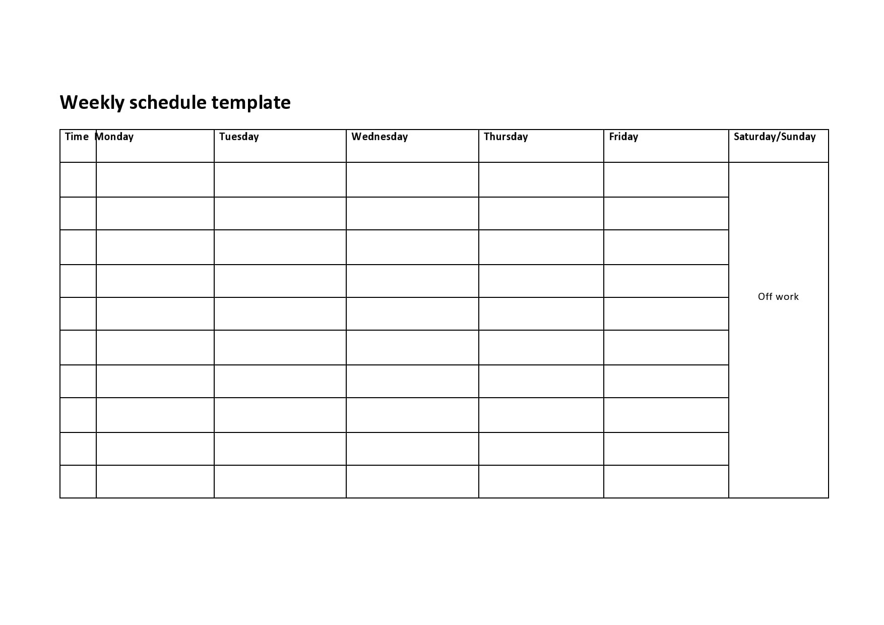 04/07/2019· creating staff schedules for office or a clinic staff is a really time consuming thing but is the duty of a manager to create a schedule for the staff to make them punctual and organized. 28 Free Weekly Schedule Templates Excel Word Templatearchive