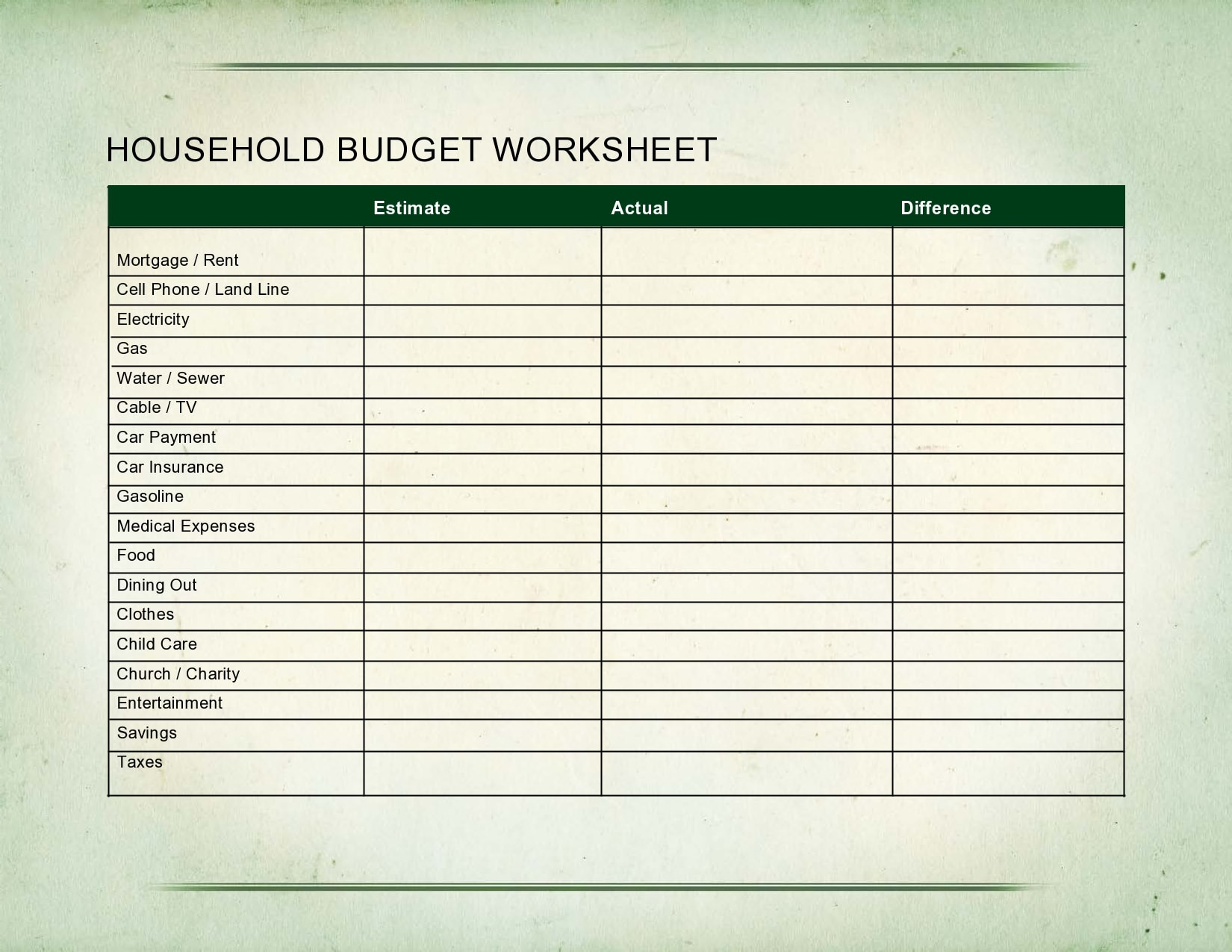 28 Best Household Budget Templates Family Budget Worksheets