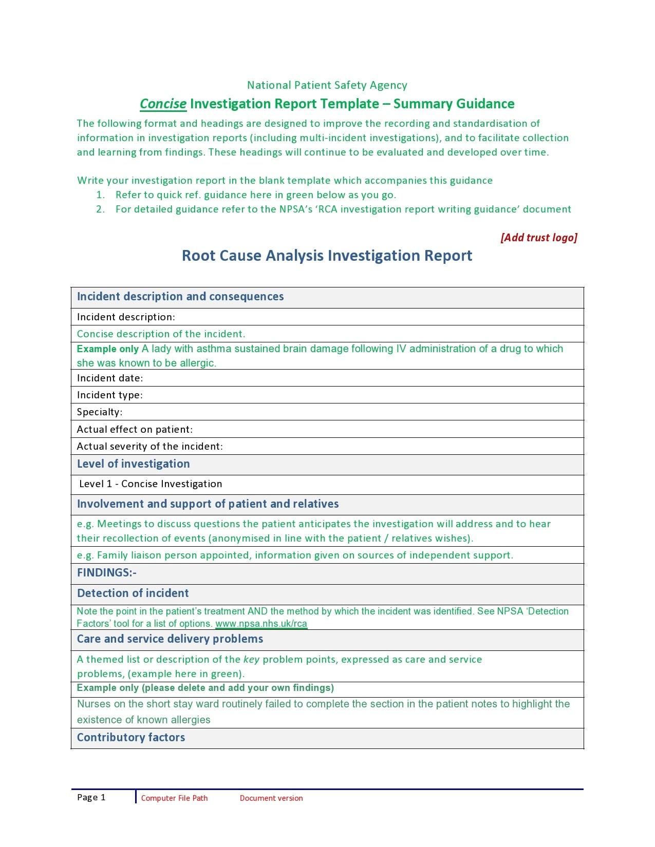 30/01/2017· download root cause analysis template below. 30 Simple Root Cause Analysis Templates Examples