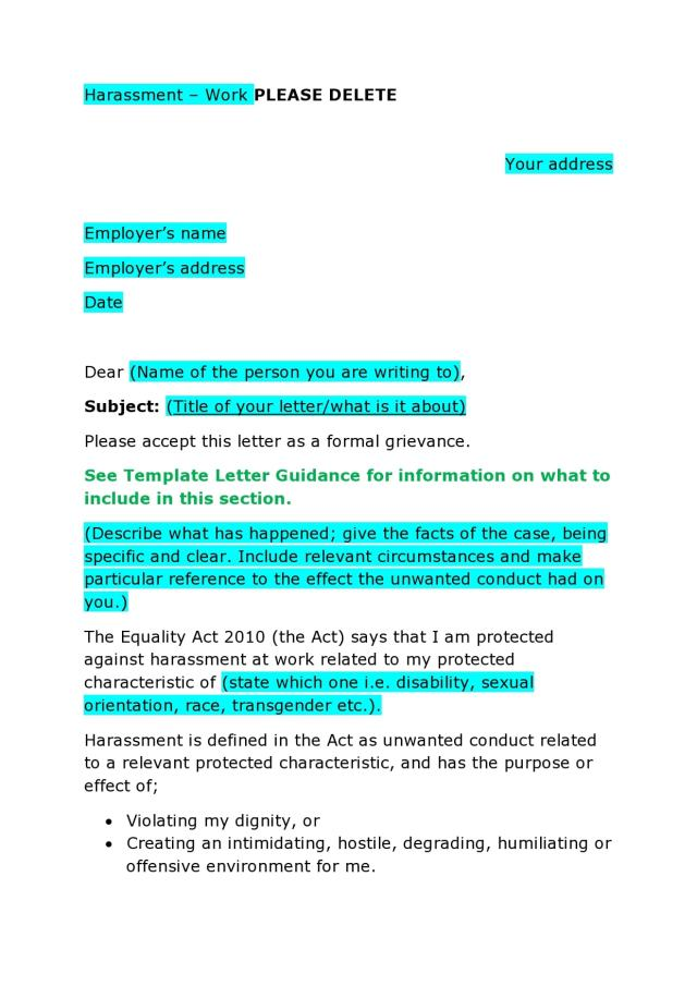8 Formal Grievance Letter Templates (+Examples)