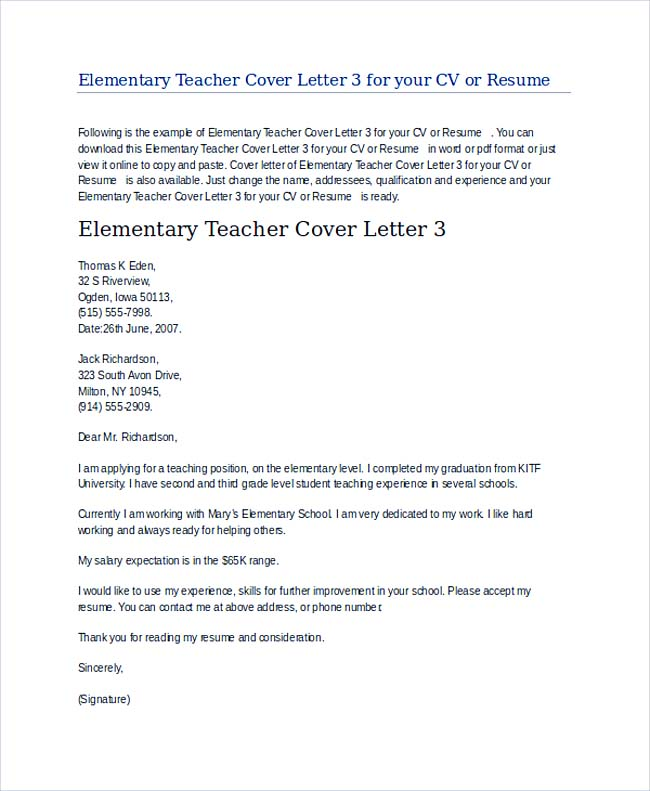 Good Cover Letter Special Education Istant 34 For Technical Office With