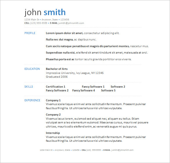 A Successful Resume Template Open Office For Job Seeker