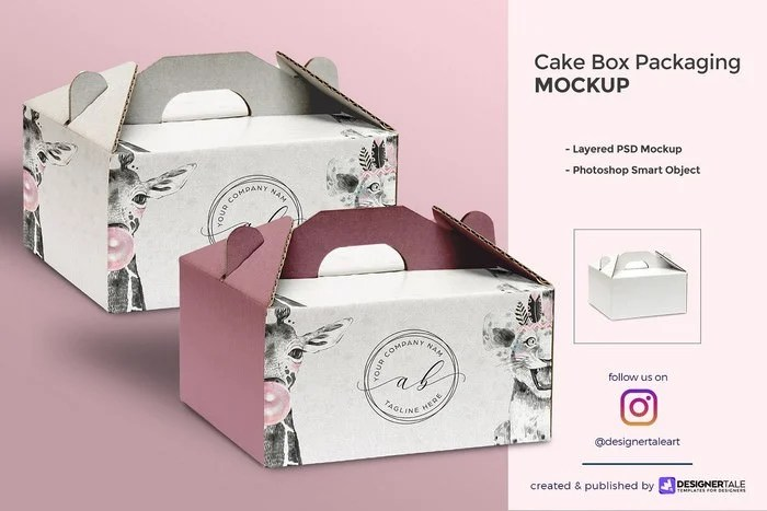 Download 20+ Top Cake Box Mockup PSD Templates 2020 - Templatefor