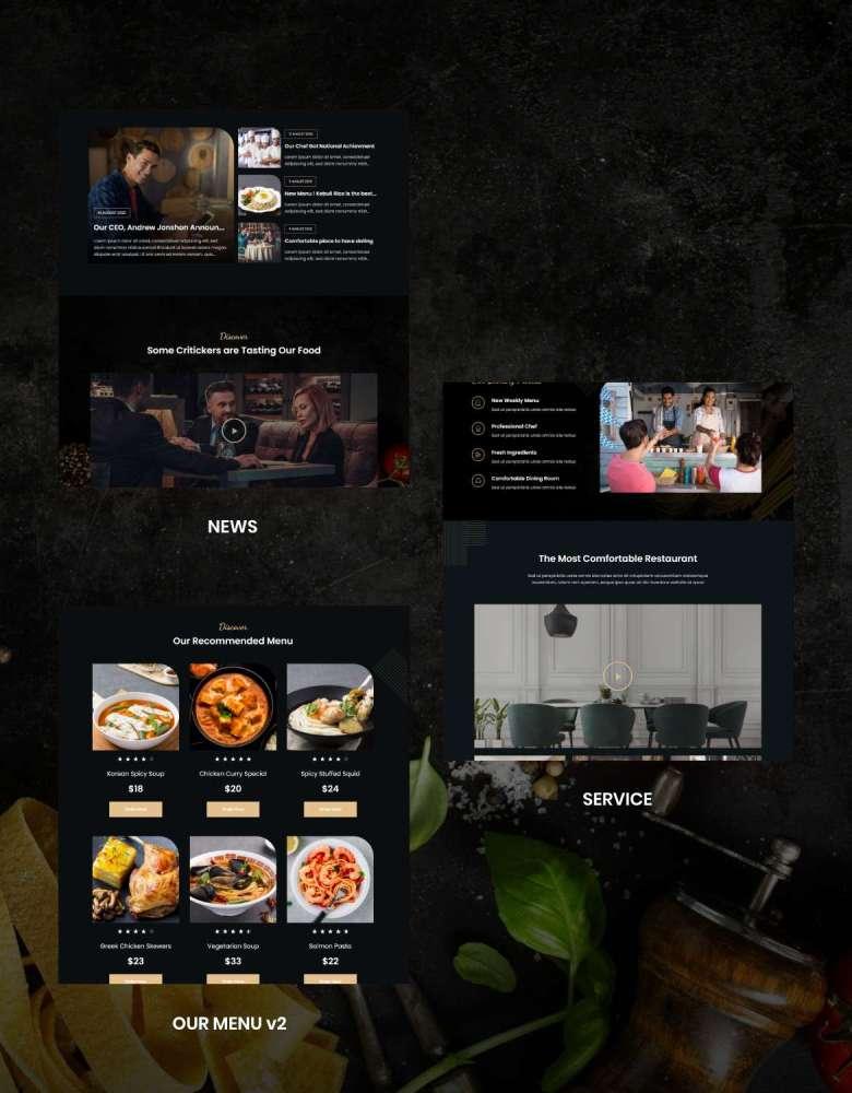 Lezzatos   Restaurant & Cafe Elementor Template Kit - 4
