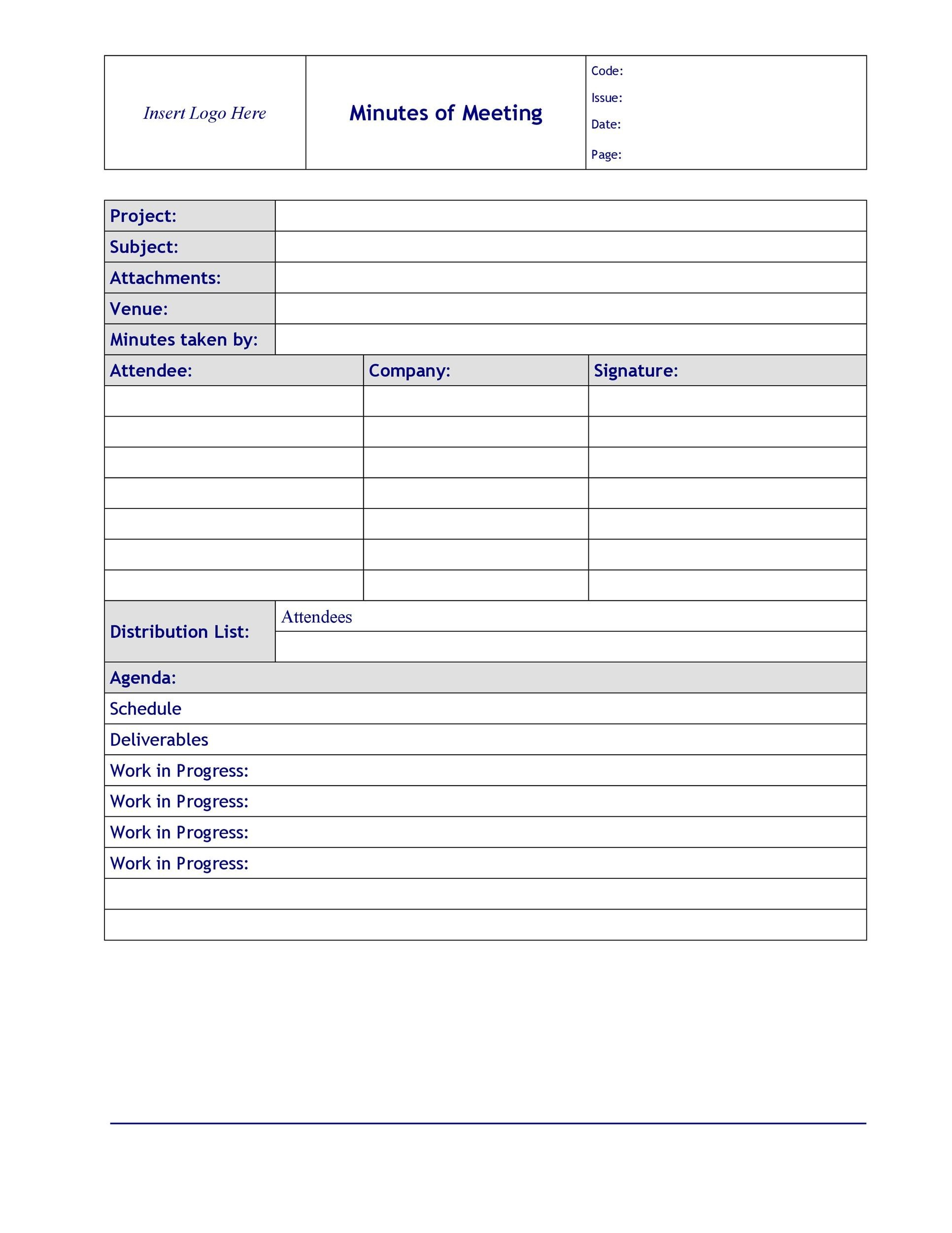 Pdf format · word document format · excel document format · sample jhsc. 26 Handy Meeting Minutes Meeting Notes Templates