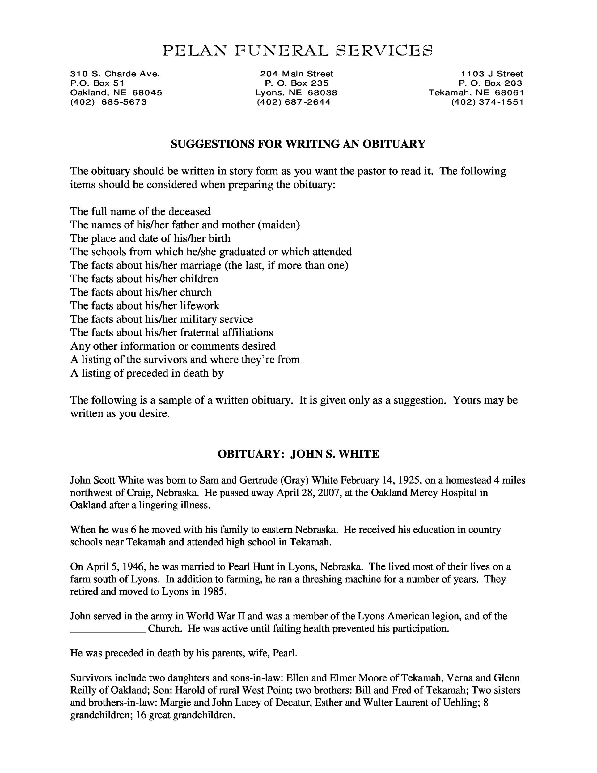 Church funeral resolutions samples for Death resolution template