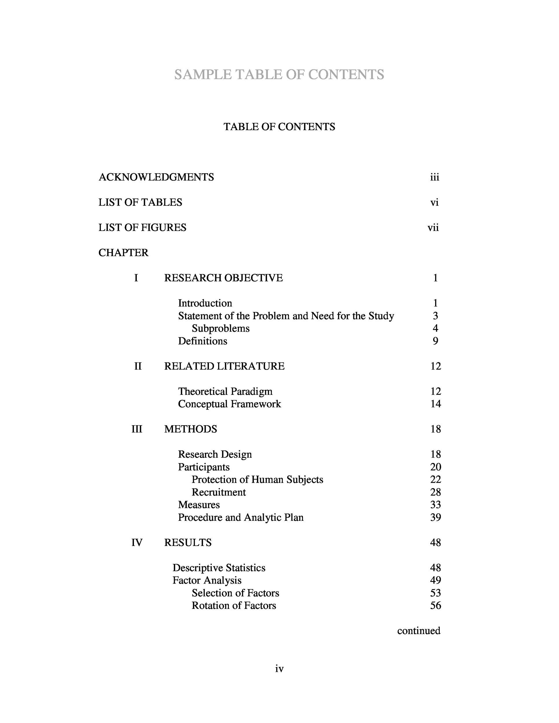 20 Table Of Contents Templates And Examples
