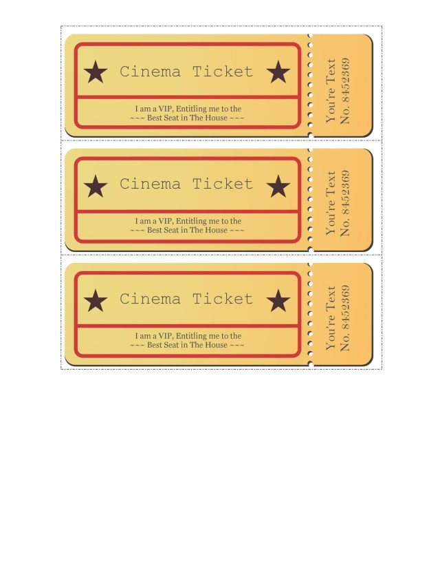 printable movie tickets - free download
