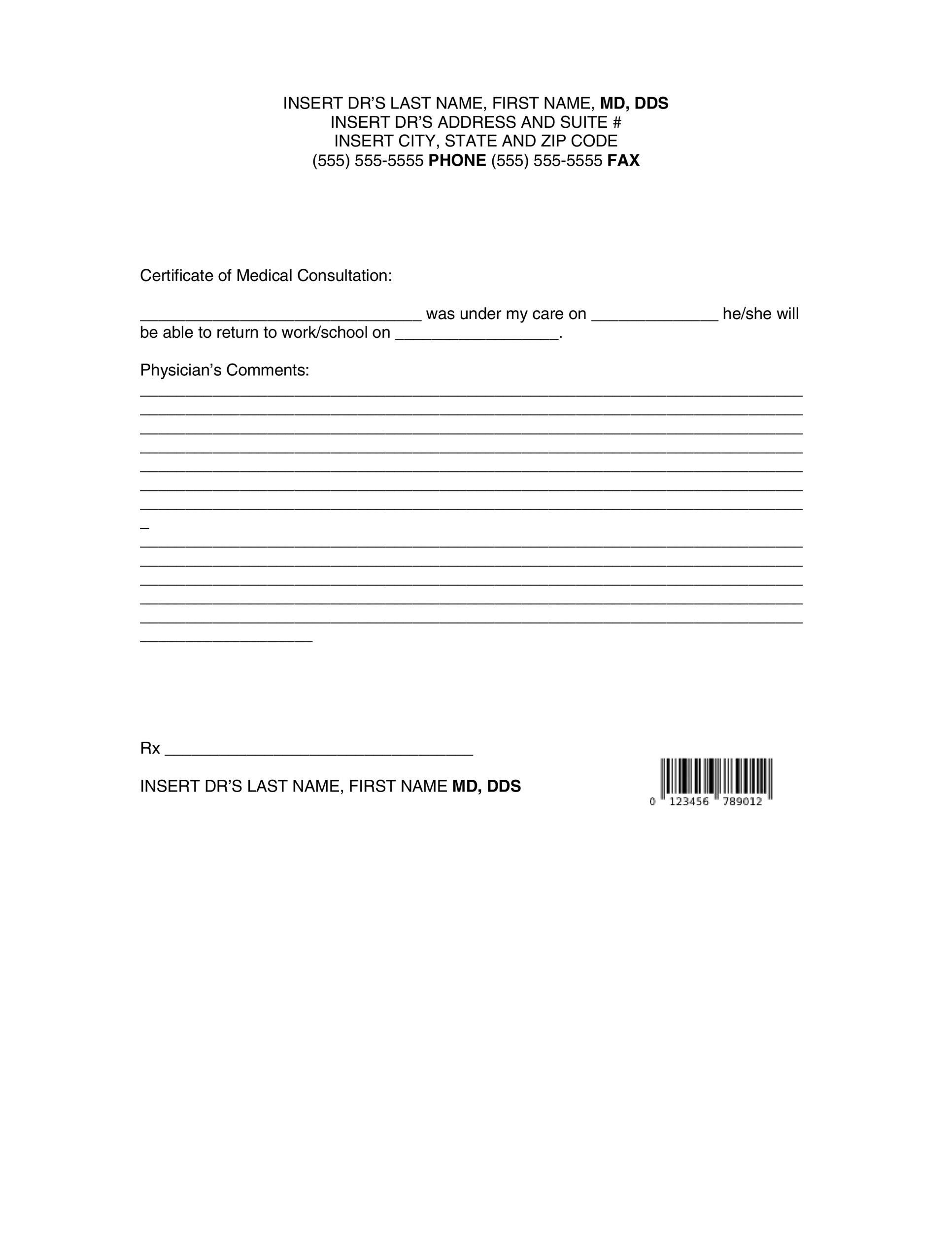 25 Free Doctor Note Excuse Templates Templatelab