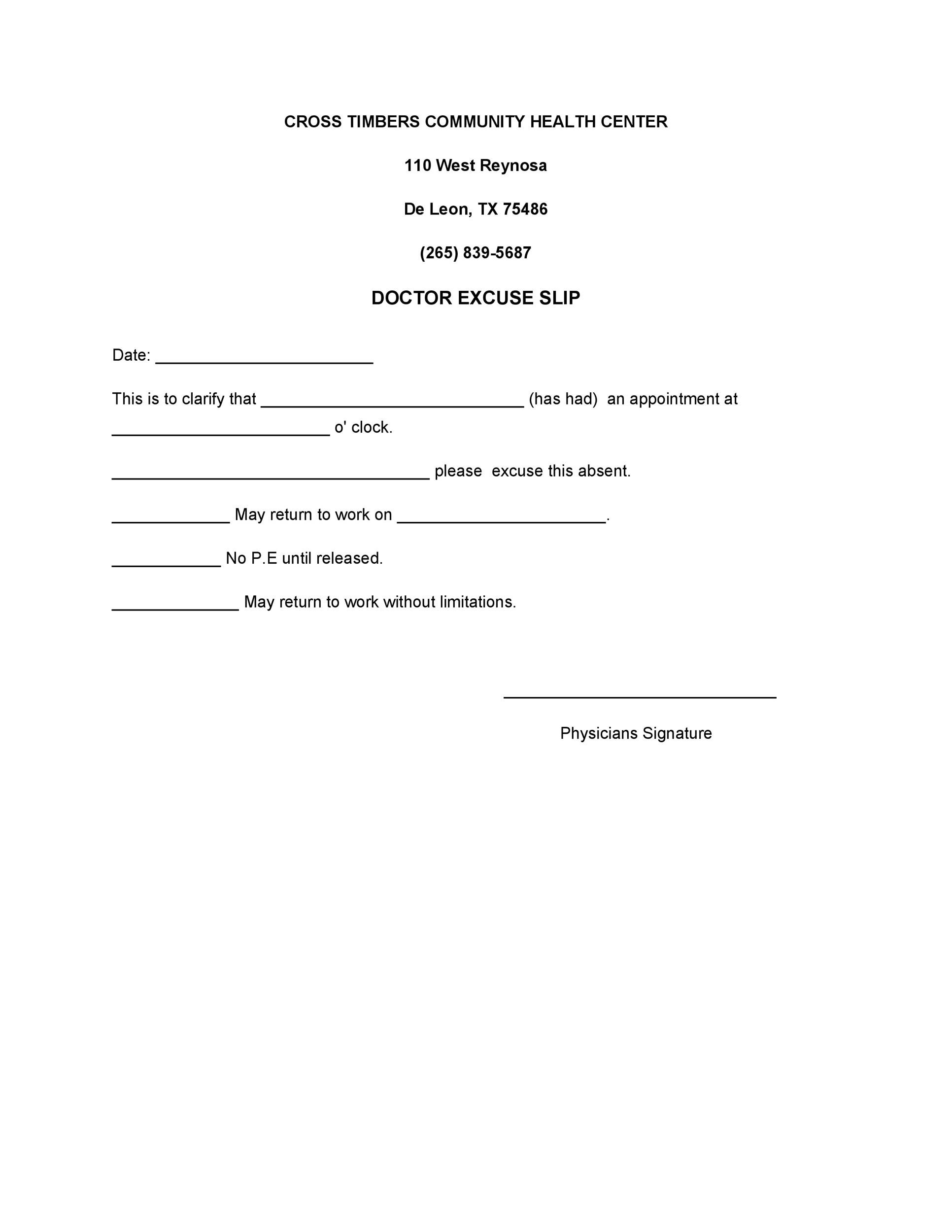 Kaiser Permanente Urgent Care Note
