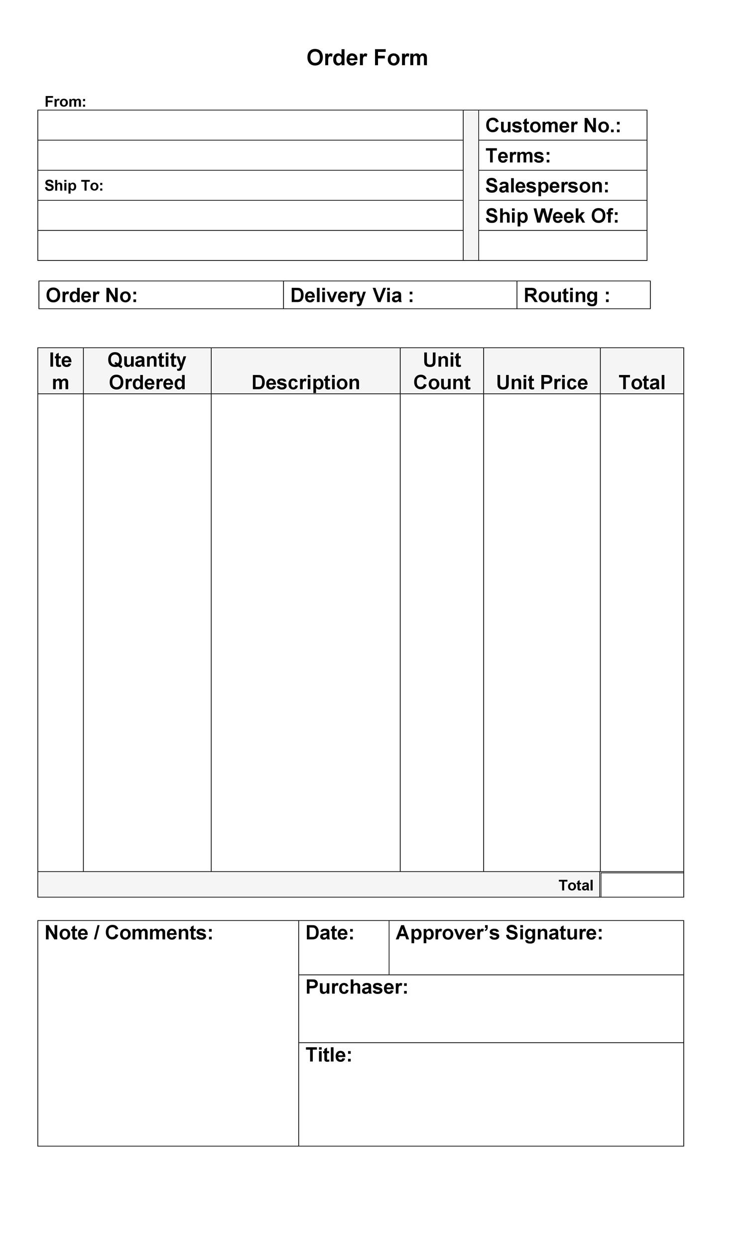 37 Free Purchase Order Templates In Word Amp Excel