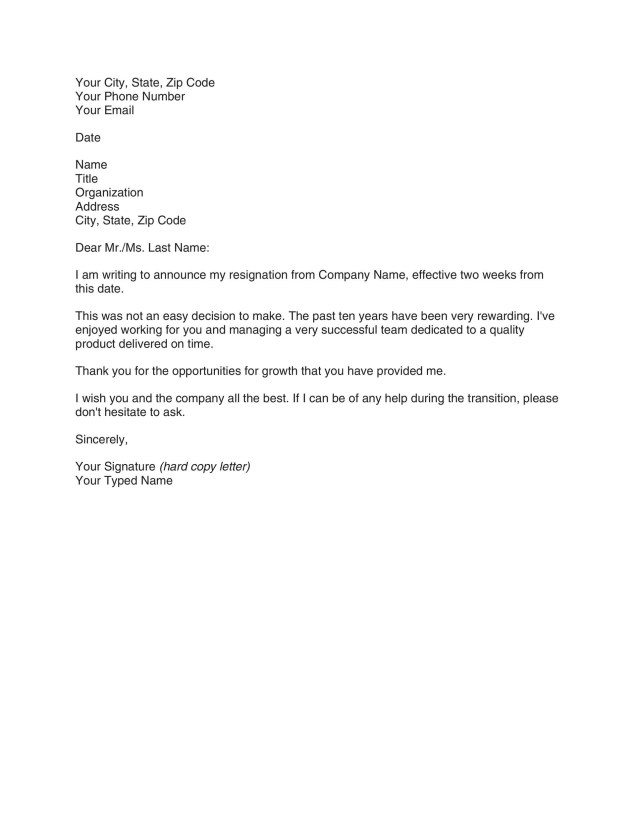 Write My Notice Resignation - How to Write a Resignation Letter