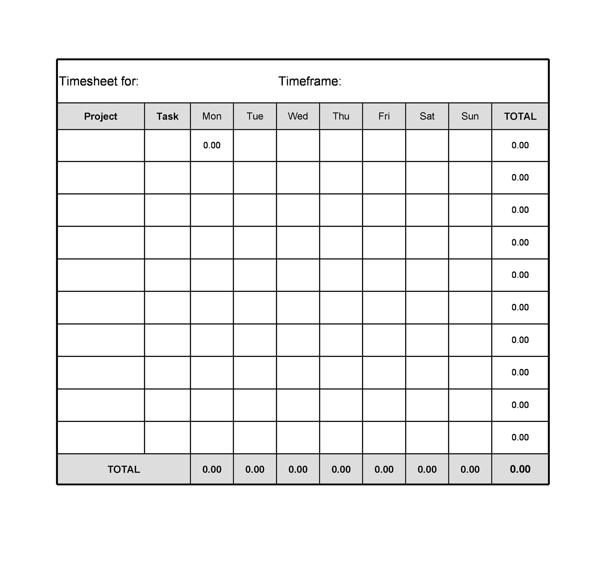 Printable Time Sheets That Are Clever