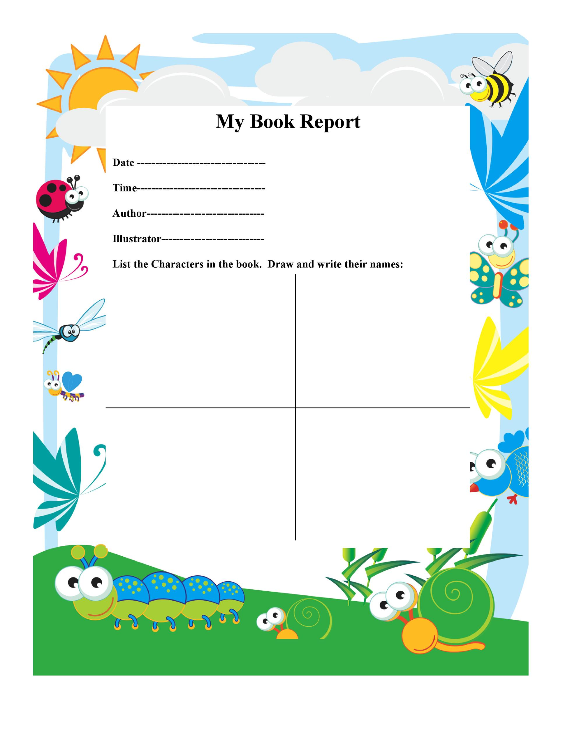 Book Reports For Kids Examples