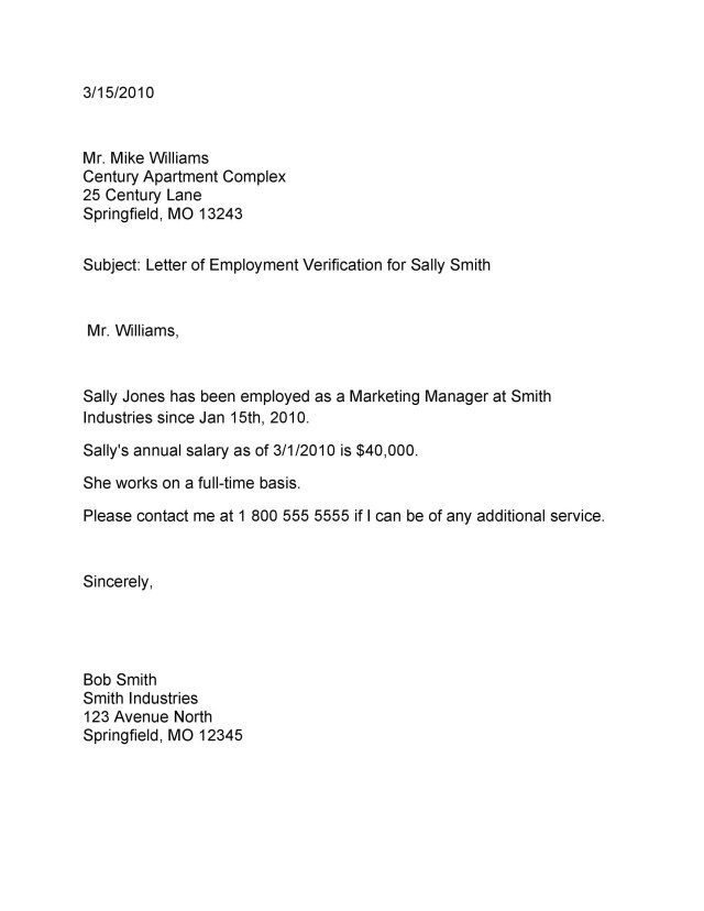 17 Proof of Employment Letters, Verification Forms & Samples