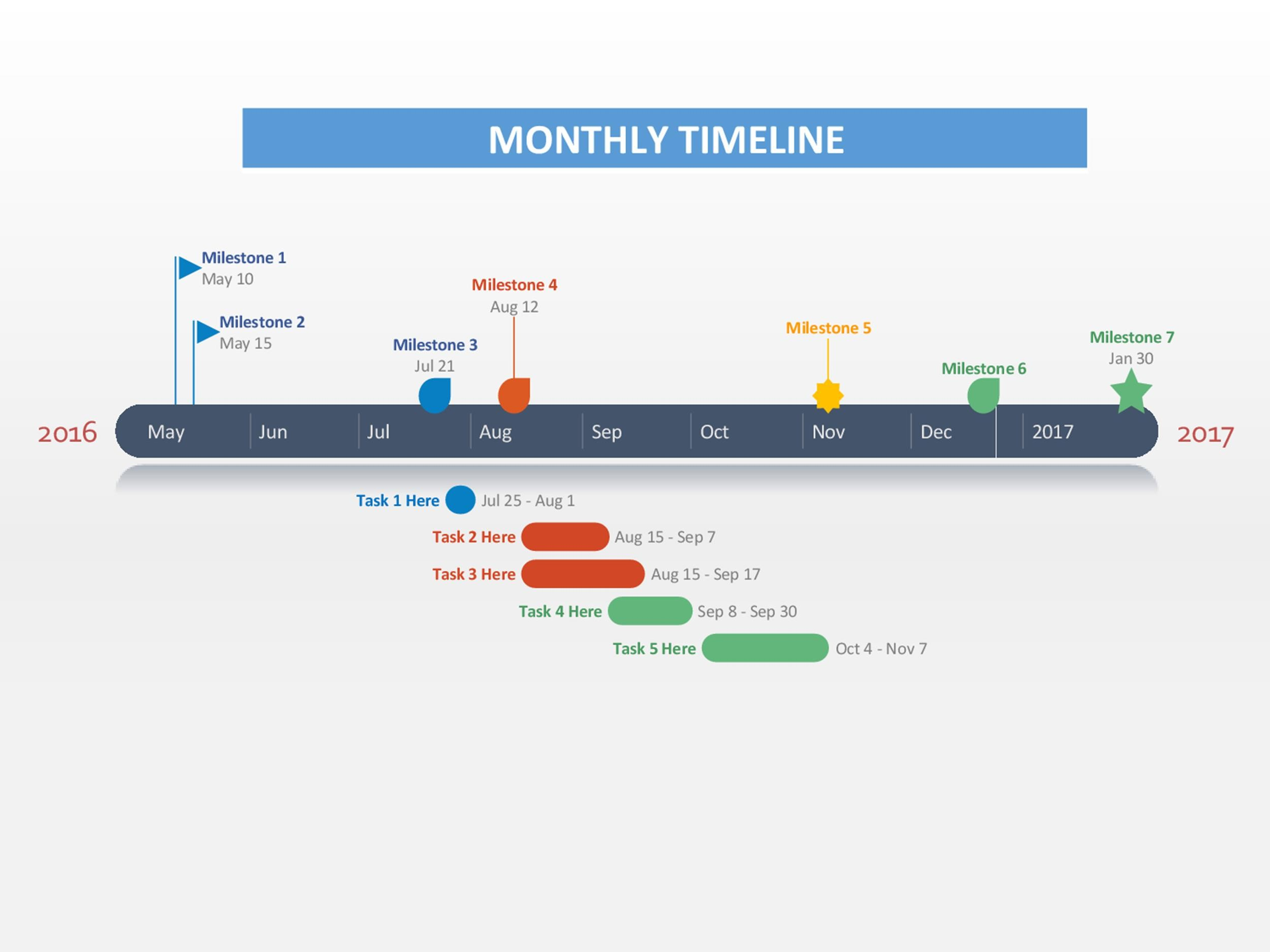 30  Timeline Templates  Excel  Power Point  Word    Template Lab Free Timeline Template 07
