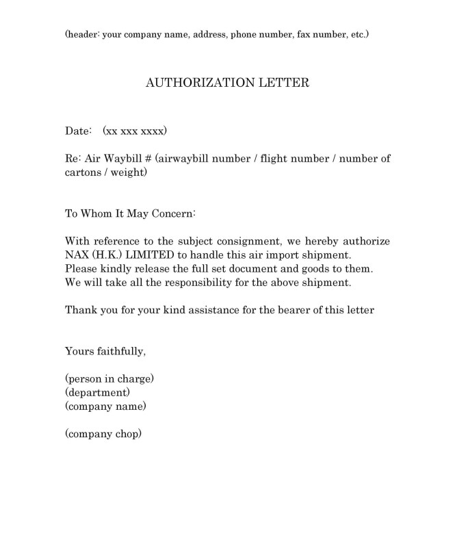 How To Write An Authorization Letter  BesikEightyCo