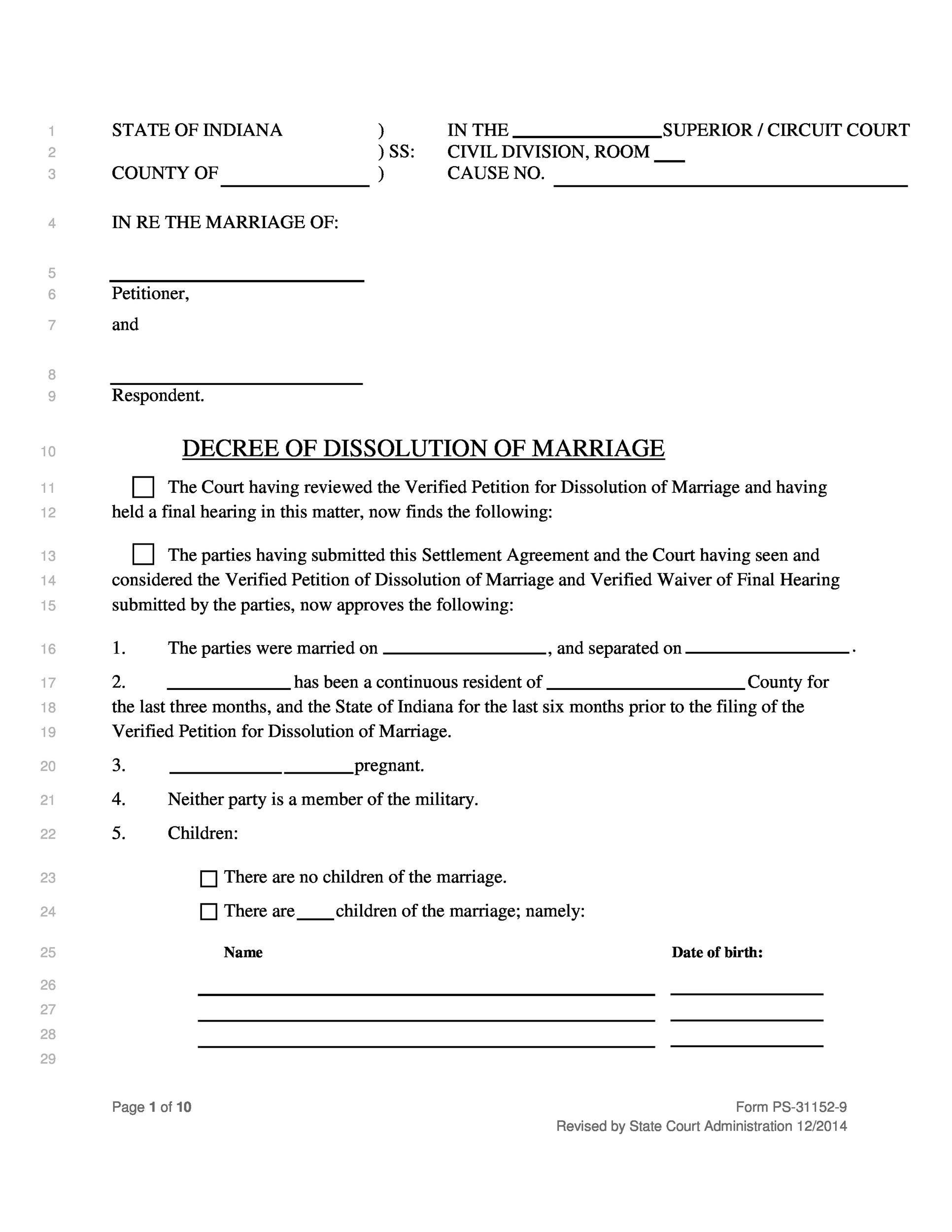 Divorce Fake Papers