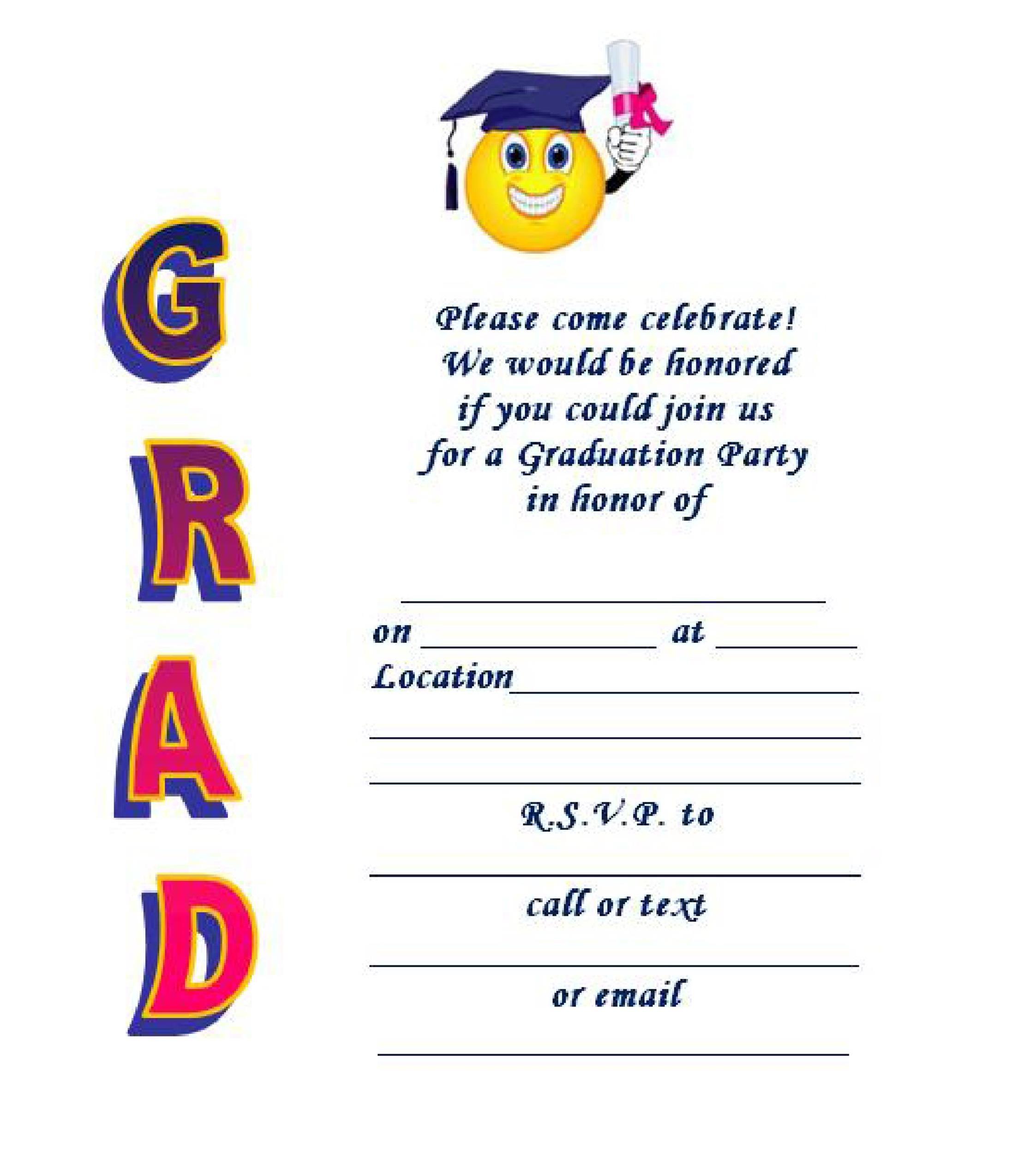 40 Free Graduation Invitation Templates Templatelab
