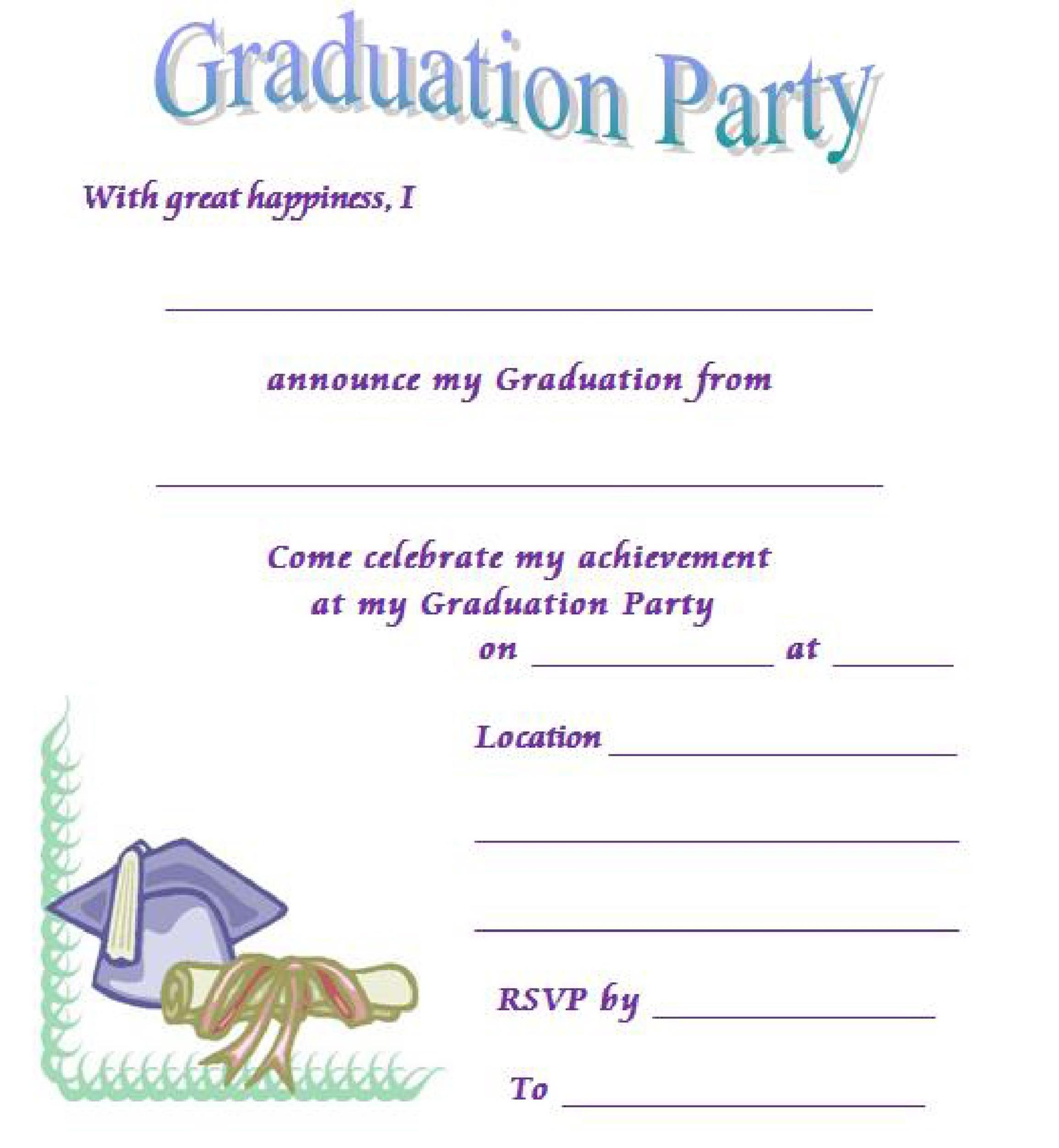 graduation invitation layouts