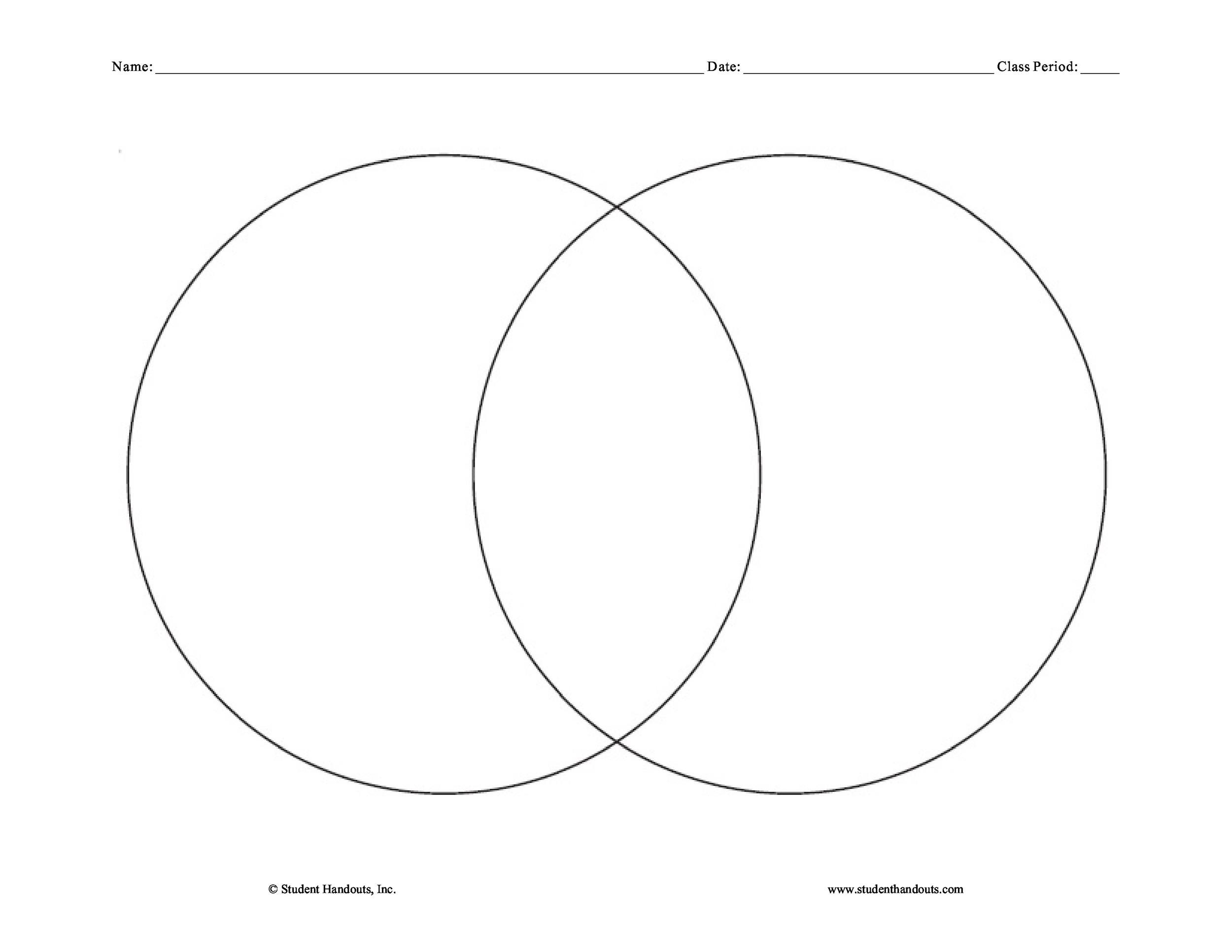 Venn Diagram Word Template