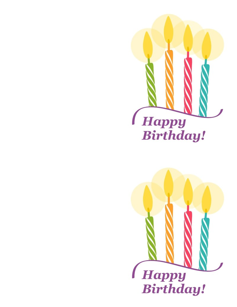 Blank Happy Birthday Card Infocards
