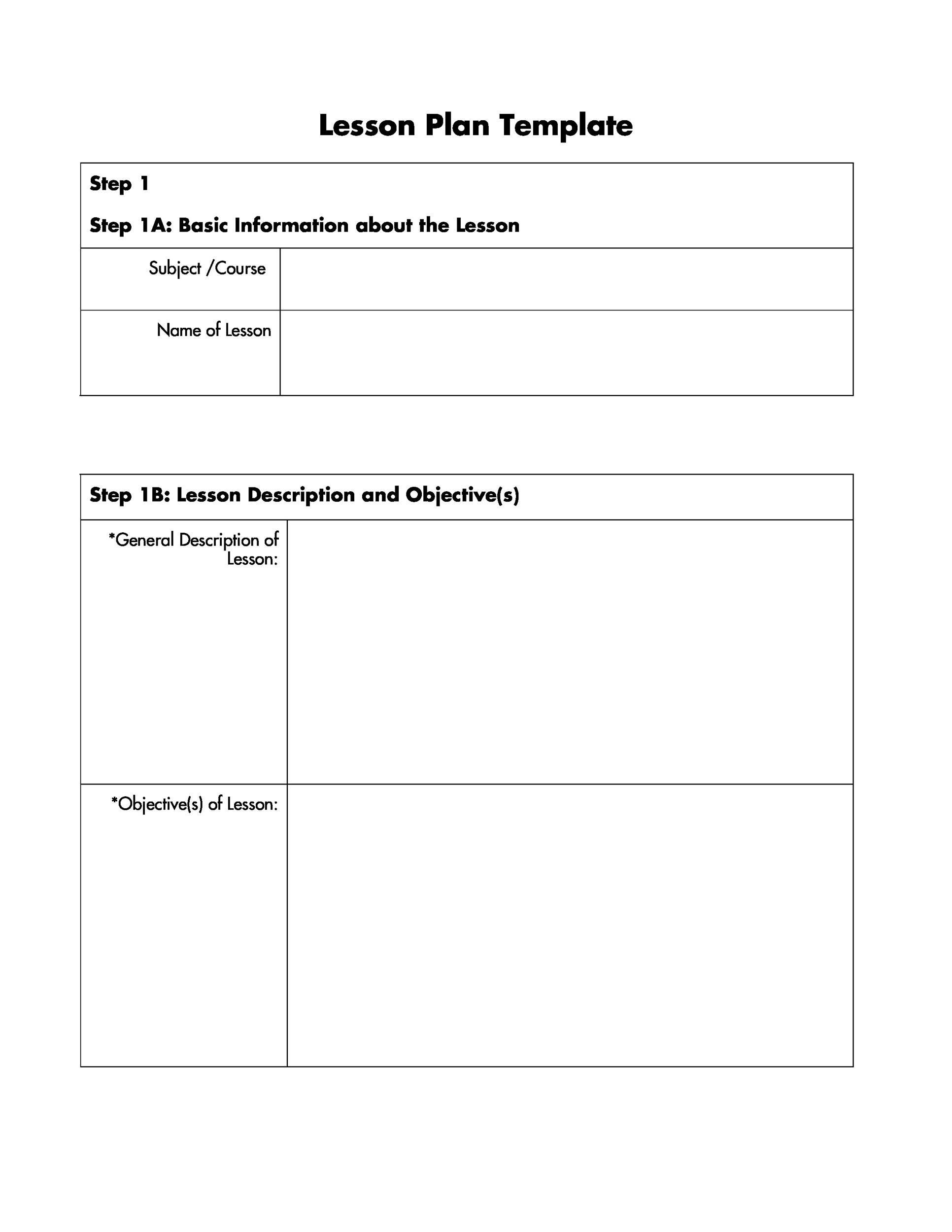 44 Free Lesson Plan Templates Common Core Preschool Weekly