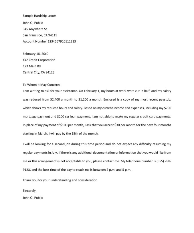 Financial hardship letter format newsinvitation hardship letter format spiritdancerdesigns