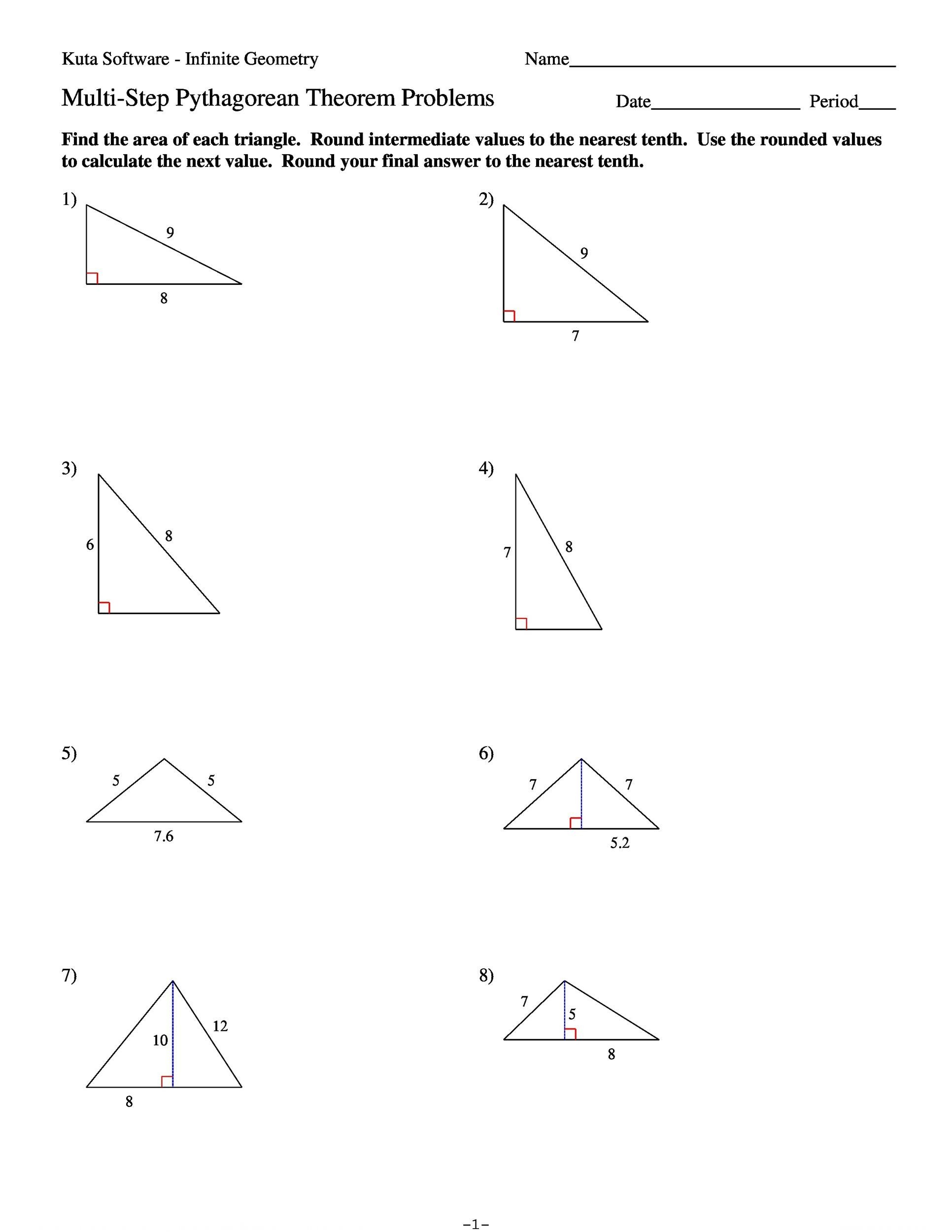 34 Pythagorean Theorem Worksheet Answer Key