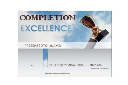 40 Fantastic Certificate of Completion Templates  Word  PowerPoint  Free Certificate of Completion Template 32