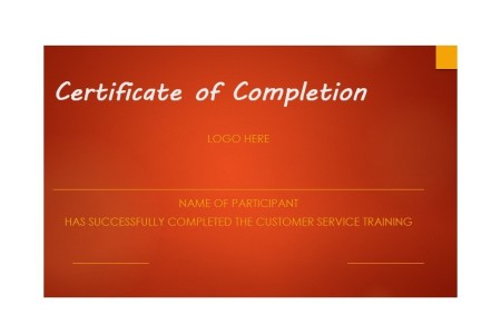 40 Fantastic Certificate of Completion Templates  Word  PowerPoint  Free Certificate of Completion Template 37