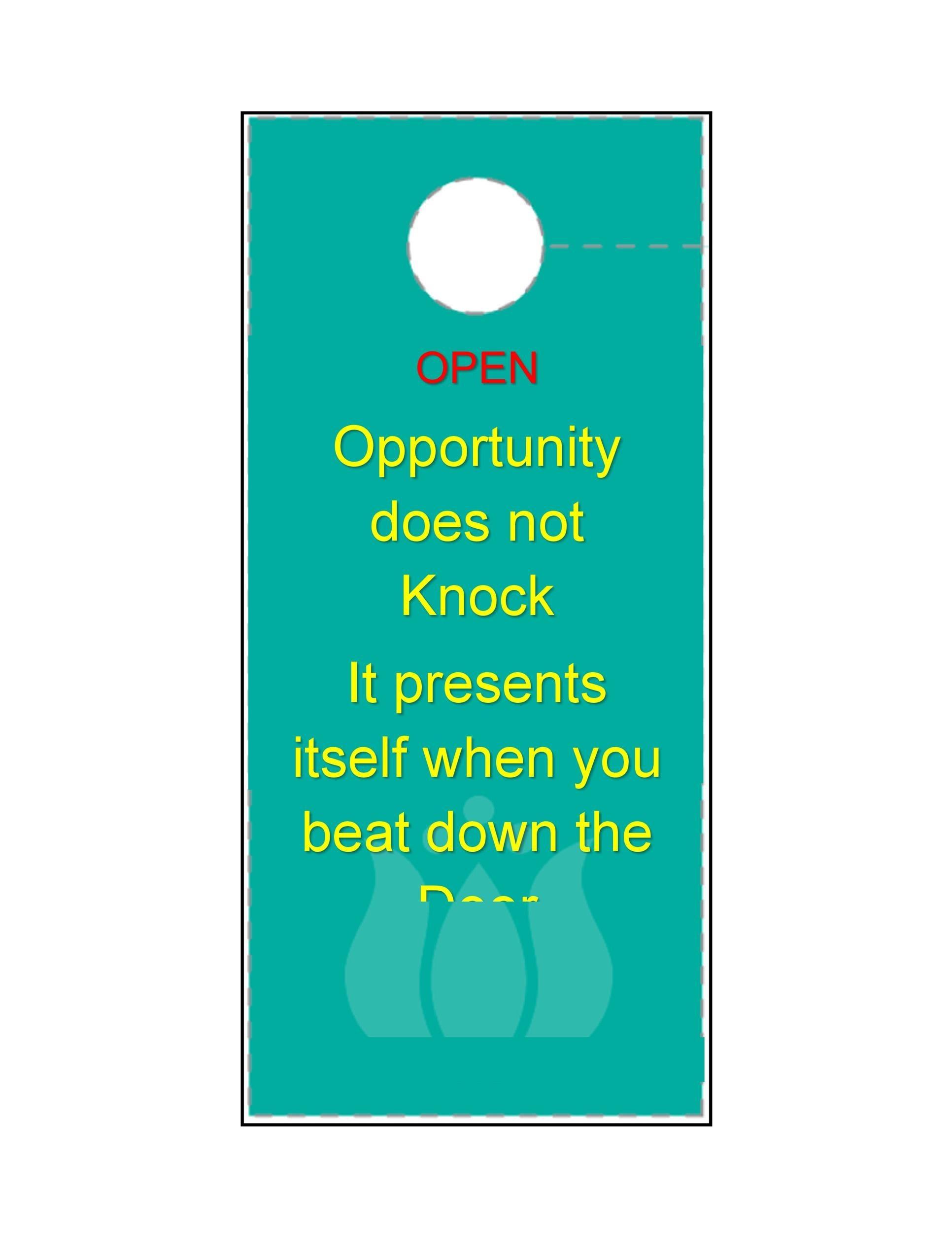 Make Your Own Door Hanger Template Tutore